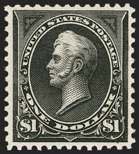 Sale Number 1206, Lot Number 297, 1895 Watermarked Bureau Issue (Scott 264-278)$1.00 Black, Ty. I (276), $1.00 Black, Ty. I (276)