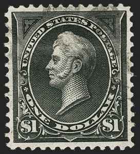 Sale Number 1206, Lot Number 299, 1895 Watermarked Bureau Issue (Scott 264-278)$1.00 Black, Ty. I (276), $1.00 Black, Ty. I (276)