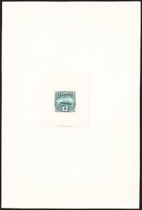 Sale Number 1206, Lot Number 30, Essays and Proofs12c Green, Large Die Proof on India (117P1), 12c Green, Large Die Proof on India (117P1)