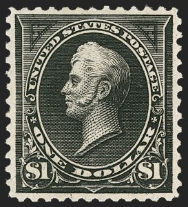 Sale Number 1206, Lot Number 300, 1895 Watermarked Bureau Issue (Scott 264-278)$1.00 Black, Ty. II (276A), $1.00 Black, Ty. II (276A)