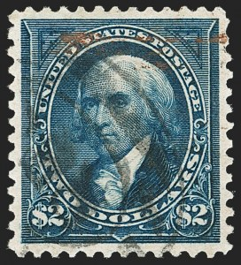 Sale Number 1206, Lot Number 302, 1895 Watermarked Bureau Issue (Scott 264-278)$2.00 Bright Blue (277), $2.00 Bright Blue (277)