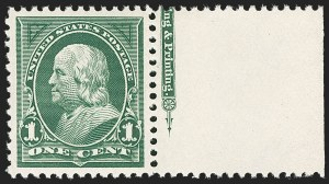 Sale Number 1206, Lot Number 306, 1897-1903 Change of Colors (Scott 279-284)1c Deep Green (279), 1c Deep Green (279)