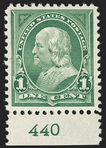 Sale Number 1206, Lot Number 307, 1897-1903 Change of Colors (Scott 279-284)1c Deep Green (279), 1c Deep Green (279)