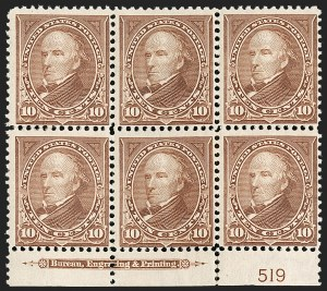Sale Number 1206, Lot Number 317, 1897-1903 Change of Colors (Scott 279-284)10c Brown, Ty. I (282C), 10c Brown, Ty. I (282C)