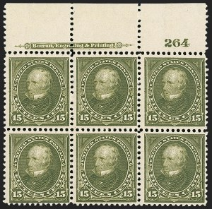 Sale Number 1206, Lot Number 319, 1897-1903 Change of Colors (Scott 279-284)15c Olive Green (284), 15c Olive Green (284)