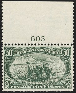Sale Number 1206, Lot Number 325, 1898 Trans-Mississippi Issue (Scott 285-293)50c Trans-Mississippi (291), 50c Trans-Mississippi (291)