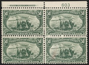 Sale Number 1206, Lot Number 327, 1898 Trans-Mississippi Issue (Scott 285-293)50c Trans-Mississippi (291), 50c Trans-Mississippi (291)