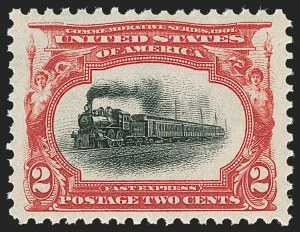 Sale Number 1206, Lot Number 334, 1901 Pan-American Issue (Scott 294-299)2c Pan-American (295), 2c Pan-American (295)