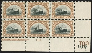 Sale Number 1206, Lot Number 341, 1901 Pan-American Issue (Scott 294-299)10c Pan-American (299), 10c Pan-American (299)