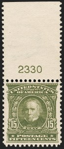 Sale Number 1206, Lot Number 347, 1902-08 Issues (Scott 300-320)15c Olive Green (309), 15c Olive Green (309)
