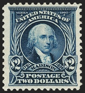 Sale Number 1206, Lot Number 351, 1902-08 Issues (Scott 300-320)$2.00 Dark Blue (312), $2.00 Dark Blue (312)