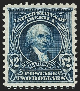 Sale Number 1206, Lot Number 352, 1902-08 Issues (Scott 300-320)$2.00 Dark Blue (312), $2.00 Dark Blue (312)