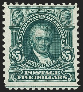 Sale Number 1206, Lot Number 353, 1902-08 Issues (Scott 300-320)$2.00 Dark Blue, $5.00 Dark Green (312-313), $2.00 Dark Blue, $5.00 Dark Green (312-313)