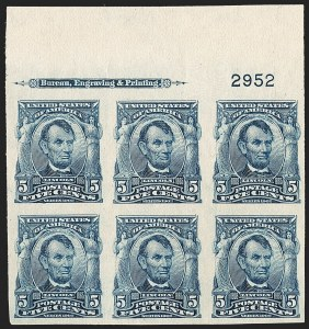 Sale Number 1206, Lot Number 359, 1902-08 Issues (Scott 300-320)5c Blue, Imperforate (315), 5c Blue, Imperforate (315)
