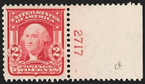 Sale Number 1206, Lot Number 360, 1902-08 Issues (Scott 300-320)2c Carmine, Ty. I (319), 2c Carmine, Ty. I (319)