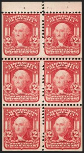 Sale Number 1206, Lot Number 361, 1902-08 Issues (Scott 300-320)2c Carmine, Ty. I, 97c Exploded Booklet, Black on Gray Cover (BK17), 2c Carmine, Ty. I, 97c Exploded Booklet, Black on Gray Cover (BK17)
