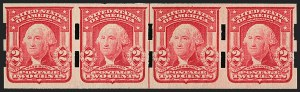 Sale Number 1206, Lot Number 364, Vending and Affixing Machine Perforations2c Carmine, Ty. II, Imperforate, Schermack Type III Perforations (320Ad; formerly 320d), 2c Carmine, Ty. II, Imperforate, Schermack Type III Perforations (320Ad; formerly 320d)