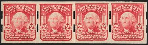 Sale Number 1206, Lot Number 366, Vending and Affixing Machine Perforations2c Carmine, Ty. II, Imperforate, Schermack Type III Perforations (320Ad; formerly 320d), 2c Carmine, Ty. II, Imperforate, Schermack Type III Perforations (320Ad; formerly 320d)