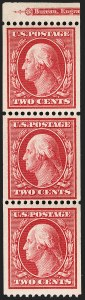 Sale Number 1206, Lot Number 382, 1908-10 Washington-Franklin Issues (Scott 331-356)2c Carmine, Coil (349), 2c Carmine, Coil (349)