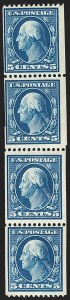 Sale Number 1206, Lot Number 384, 1908-10 Washington-Franklin Issues (Scott 331-356)5c Blue, Coil (351), 5c Blue, Coil (351)