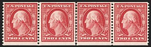 Sale Number 1206, Lot Number 388, 1908-10 Washington-Franklin Issues (Scott 331-356)2c Carmine, Coil (353), 2c Carmine, Coil (353)