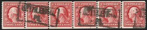 Sale Number 1206, Lot Number 391, 1908-10 Washington-Franklin Issues (Scott 331-356)2c Carmine, Coil (353), 2c Carmine, Coil (353)