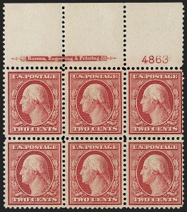 Sale Number 1206, Lot Number 395, 1909 Bluish Paper Issue (Scott 357-366)2c Carmine, Bluish (358), 2c Carmine, Bluish (358)