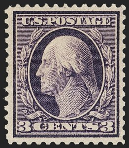 Sale Number 1206, Lot Number 396, 1909 Bluish Paper Issue (Scott 357-366)3c Deep Violet, Bluish (359), 3c Deep Violet, Bluish (359)