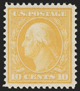 Sale Number 1206, Lot Number 402, 1909 Bluish Paper Issue (Scott 357-366)10c Yellow, Bluish (364), 10c Yellow, Bluish (364)
