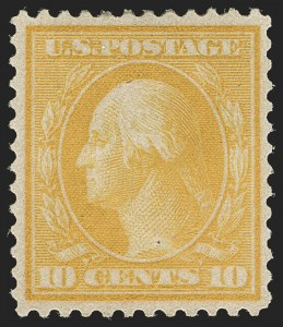 Sale Number 1206, Lot Number 403, 1909 Bluish Paper Issue (Scott 357-366)10c Yellow, Bluish (364), 10c Yellow, Bluish (364)