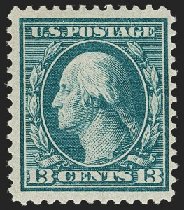 Sale Number 1206, Lot Number 404, 1909 Bluish Paper Issue (Scott 357-366)13c Bluish Green, Bluish (365), 13c Bluish Green, Bluish (365)
