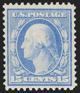 Sale Number 1206, Lot Number 406, 1909 Bluish Paper Issue (Scott 357-366)15c Pale Ultramarine, Bluish (366), 15c Pale Ultramarine, Bluish (366)