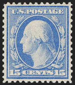 Sale Number 1206, Lot Number 407, 1909 Bluish Paper Issue (Scott 357-366)15c Pale Ultramarine, Bluish (366), 15c Pale Ultramarine, Bluish (366)