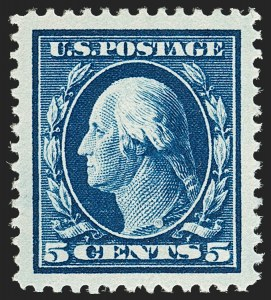 Sale Number 1206, Lot Number 412, 1910-13 Washington-Franklin Issue (Scott 374-396)5c Blue (378), 5c Blue (378)