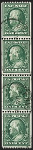 Sale Number 1206, Lot Number 418, 1910-13 Washington-Franklin Issue (Scott 374-396)1c Green, Coil (385), 1c Green, Coil (385)