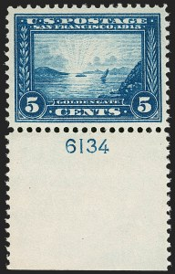 Sale Number 1206, Lot Number 434, 1913-15 Panama-Pacific Issue (Scott 397-404)5c Panama-Pacific (399), 5c Panama-Pacific (399)