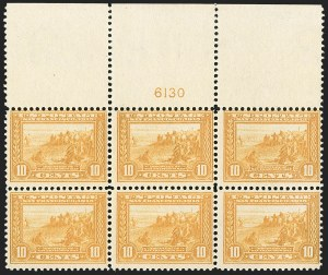 Sale Number 1206, Lot Number 437, 1913-15 Panama-Pacific Issue (Scott 397-404)10c Orange Yellow, Panama-Pacific (400), 10c Orange Yellow, Panama-Pacific (400)