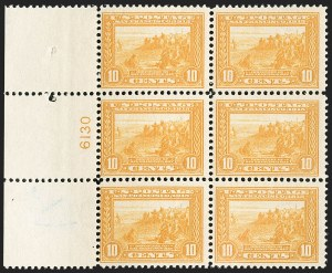 Sale Number 1206, Lot Number 438, 1913-15 Panama-Pacific Issue (Scott 397-404)10c Orange Yellow, Panama-Pacific (400), 10c Orange Yellow, Panama-Pacific (400)