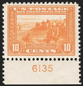 Sale Number 1206, Lot Number 439, 1913-15 Panama-Pacific Issue (Scott 397-404)10c Orange, Panama-Pacific (400A), 10c Orange, Panama-Pacific (400A)