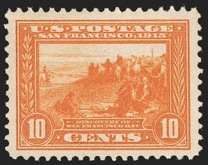 Sale Number 1206, Lot Number 440, 1913-15 Panama-Pacific Issue (Scott 397-404)10c Orange, Panama-Pacific (400A), 10c Orange, Panama-Pacific (400A)