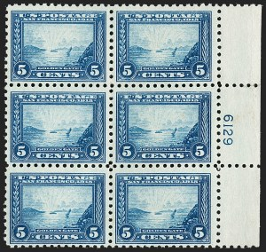 Sale Number 1206, Lot Number 443, 1913-15 Panama-Pacific Issue (Scott 397-404)5c Panama-Pacific, Perf 10 (403), 5c Panama-Pacific, Perf 10 (403)