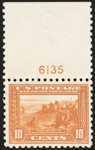 Sale Number 1206, Lot Number 444, 1913-15 Panama-Pacific Issue (Scott 397-404)10c Panama-Pacific, Perf 10 (404), 10c Panama-Pacific, Perf 10 (404)