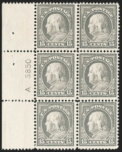 Sale Number 1206, Lot Number 453, 1912-14 Washington-Franklin Issue (Scott 405-423)15c Gray (418), 15c Gray (418)