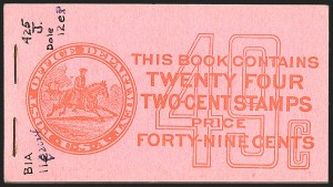 Sale Number 1206, Lot Number 455, 1913-15 Washington-Franklin Issues (Scott 424-461)2c Carmine, Unexploded 49c Booklet (BK45), 2c Carmine, Unexploded 49c Booklet (BK45)