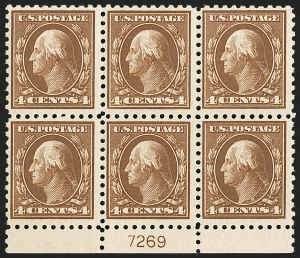 Sale Number 1206, Lot Number 456, 1913-15 Washington-Franklin Issues (Scott 424-461)4c Brown (427), 4c Brown (427)