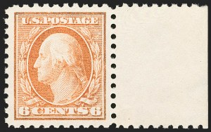 Sale Number 1206, Lot Number 459, 1913-15 Washington-Franklin Issues (Scott 424-461)6c Red Orange (429), 6c Red Orange (429)
