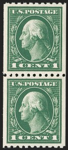 Sale Number 1206, Lot Number 466, 1913-15 Washington-Franklin Issues (Scott 424-461)1c Green, Coil (441), 1c Green, Coil (441)