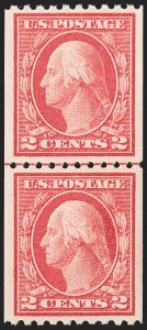 Sale Number 1206, Lot Number 467, 1913-15 Washington-Franklin Issues (Scott 424-461)2c Carmine, Ty. I, Coil (442), 2c Carmine, Ty. I, Coil (442)