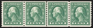 Sale Number 1206, Lot Number 469, 1913-15 Washington-Franklin Issues (Scott 424-461)1c Green, Coil (443), 1c Green, Coil (443)