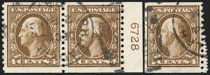 Sale Number 1206, Lot Number 473, 1913-15 Washington-Franklin Issues (Scott 424-461)4c Brown, Coil (446), 4c Brown, Coil (446)